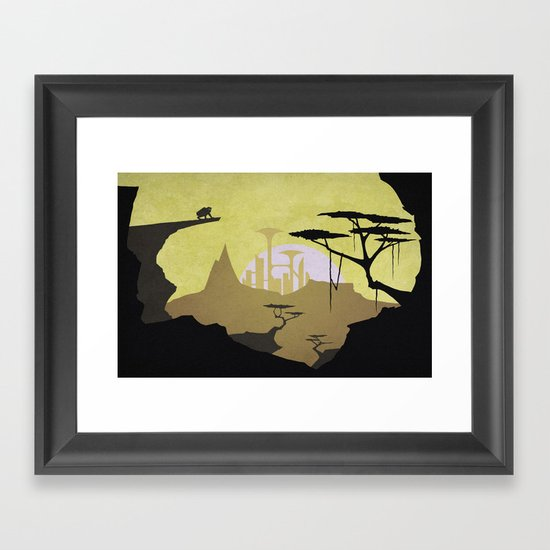 Abandoned city (day) Framed Art Print