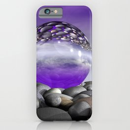 violet sky and light refraction iPhone Case