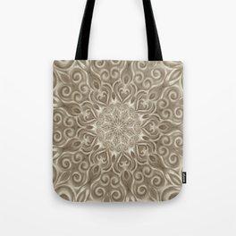 Beige swirl mandala Tote Bag