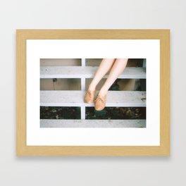 summer afternoon at the tea room Framed Art Print