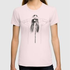 Woman Color 2 SMALL Womens Fitted Tee Light Pink