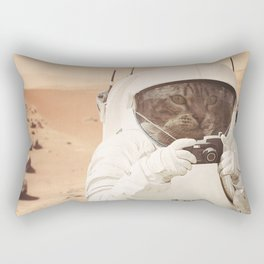 Astronaut Cat on Mars Rectangular Pillow