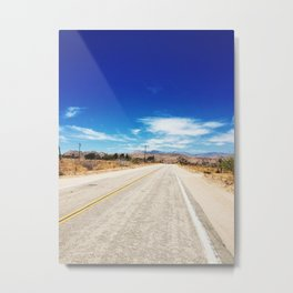 Long Desert Road Metal Print