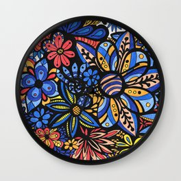Talavera Bouquet Wall Clock