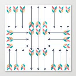 Native American Arrowhead Arrows Canvas Print