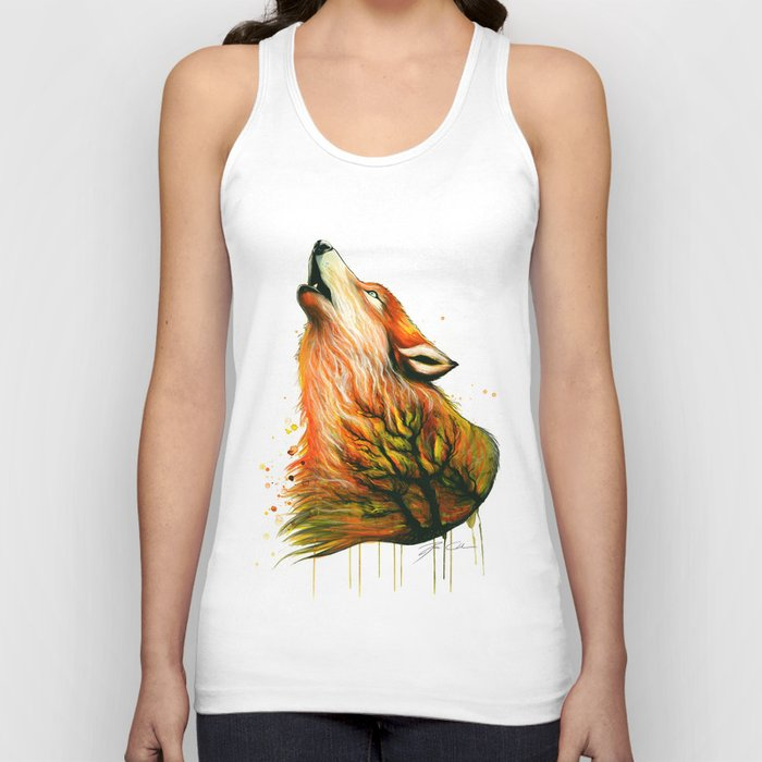 -The burning Forest- Unisex Tank Top
