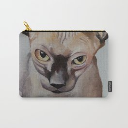 Artwork, animal, oilpainting. Sphynx. Cat Carry-All Pouch