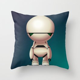 Marvin the Paranoid Android Throw Pillow