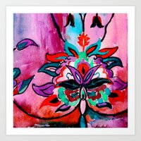 ruby Art Prints featuring Ruby by Sonal Nathwani