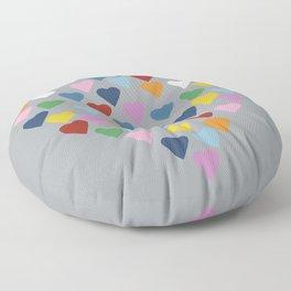Hearts Heart Multi Grey Floor Pillow