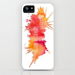 Dans le doute, reboote. - Red iPhone Case