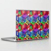 gamer Laptop & iPad Skins featuring Gamer by Ryan GoldLion