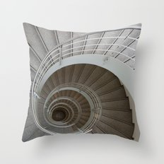 the spiral (architecture) Throw Pillow