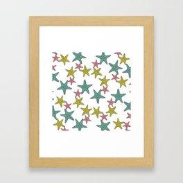 starfish tropical print Framed Art Print