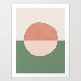 Horizon Abstract - Pink Art Print