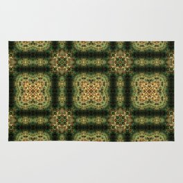 Indian Inspired Earthtone Tilework Rug