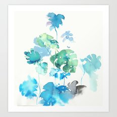 Tropical leaves (collaboration with Franciscomffonseca) Art Print