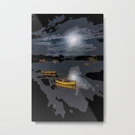 Moonlit night (digital art) Metal Print