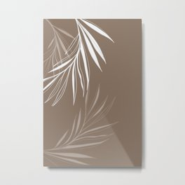 mocca and white Metal Print