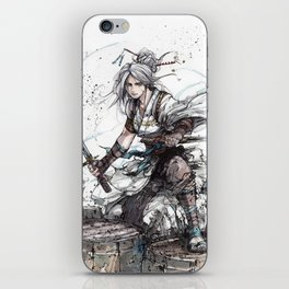 Samurai Girl with Japanese Calligraphy - Family - Ciri Parody iPhone Skin