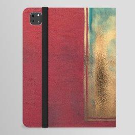 Deep Red, Gold, Turquoise Blue iPad Folio Case
