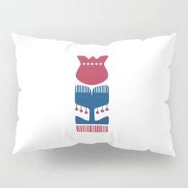Nordic Red Flower Pillow Sham