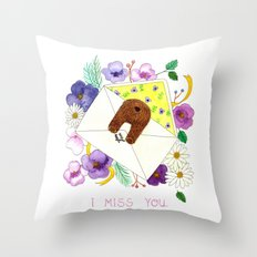 I Miss You. Throw Pillow