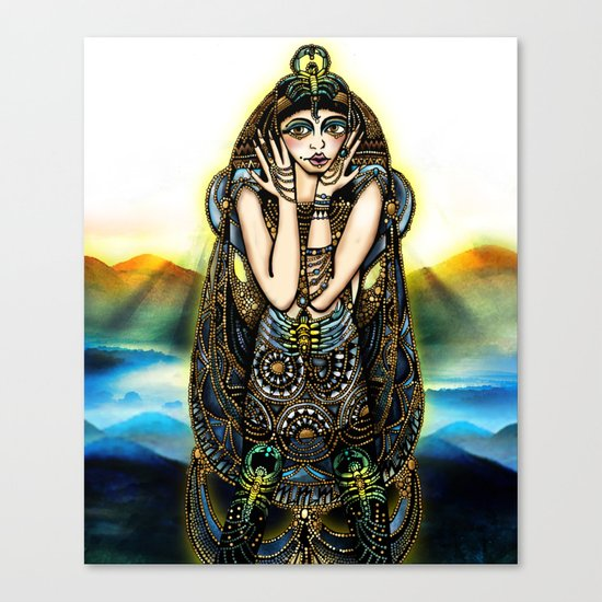 Astrology Illustration Series-Scorpio Canvas Print