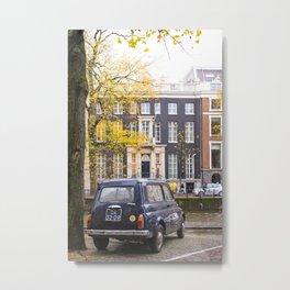 Vintage Car in Fall, Amsterdam Metal Print