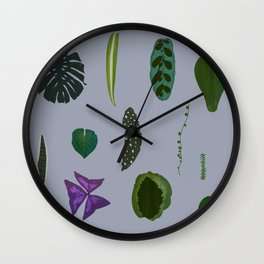 A non-scientific botanical investigation of the indoor plant. Wall Clock
