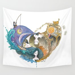 Love Story That Repeats Itself Throughout Time Wall Tapestry