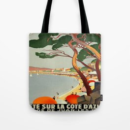 Vintage poster - Cote D'Azur, France Tote Bag