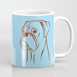 Boxer (Blue and Brown) Coffee Mug