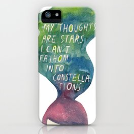Thoughts Are Constellations iPhone Case