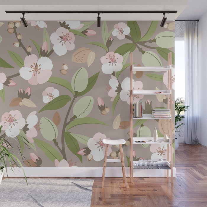 Almond orchard Wall Mural