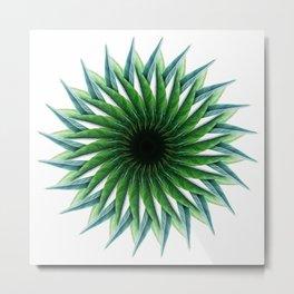 Leafy Mandala Metal Print