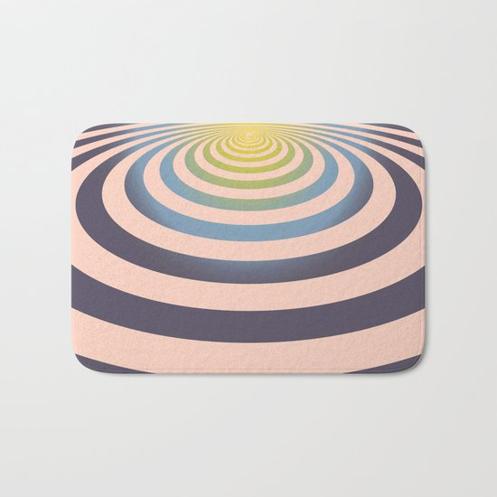 Circle around asymmetrically - Optical game Bath Mat