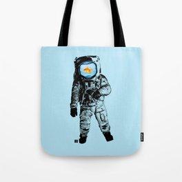 Goldfish Astronaut Tote Bag