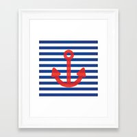 sailor Framed Art Prints featuring Sailor.. by PearGraphics