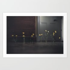 Flowers and Floorboards Art Print
