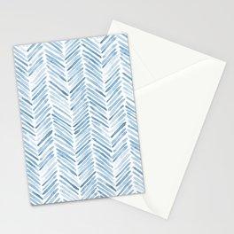Baby blue watercolor herringbone  Stationery Cards