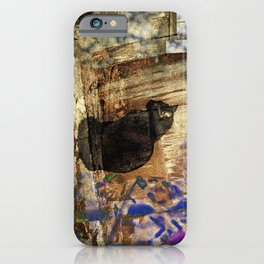 Halloween Ghost Cat iPhone Case