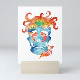 Sally sells sea skulls by the seashore Mini Art Print