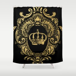 Gold Crown Shower Curtain