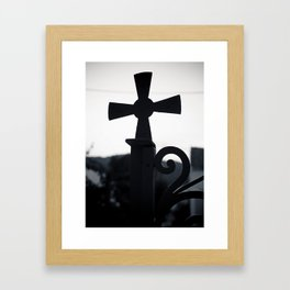 Cycladic cross Framed Art Print