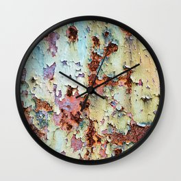 Abstract Paint Wall Clock