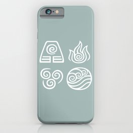 Bending All Four Elements – Water iPhone Case
