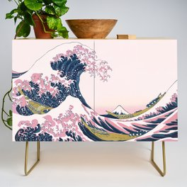 The Great Pink Wave off Kanagawa Credenza