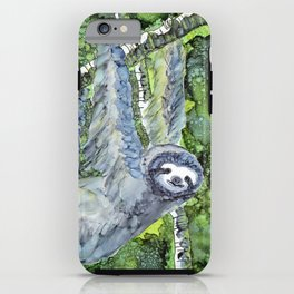 Sloth - alcohol ink iPhone Case