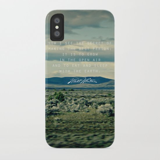 Whitman: Earth iPhone Case